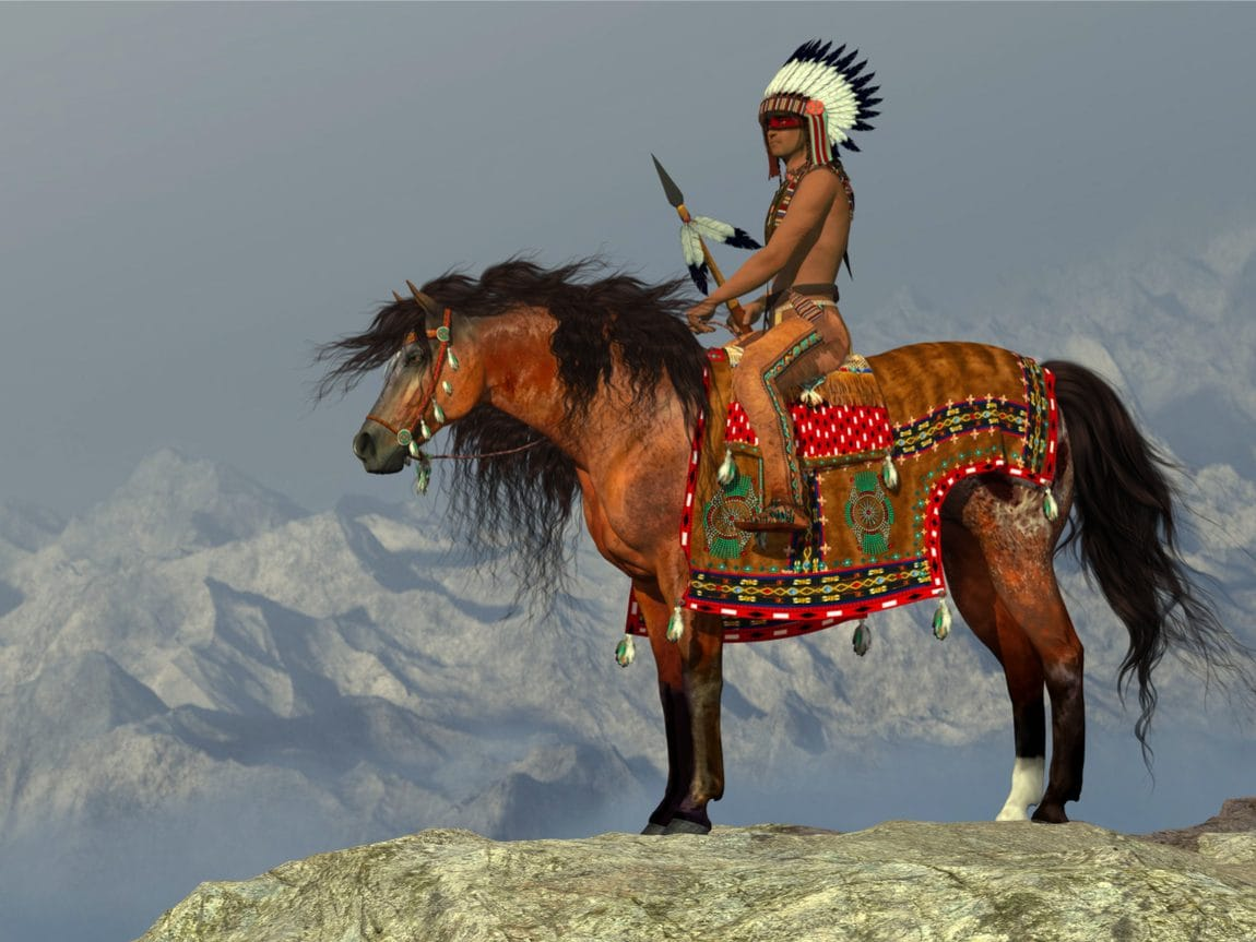 Indianer mit Leggings