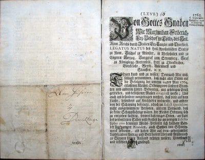 Kleiderordnung, Arensberg 6. September 1765