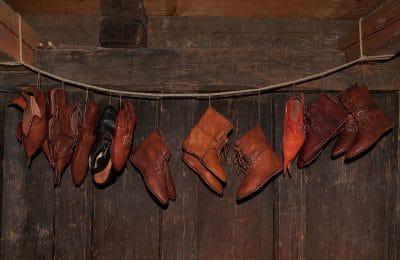Schuhe aus dem Mittelalter (Reproduktion)