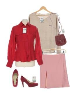 ootd_rot, pink, beige