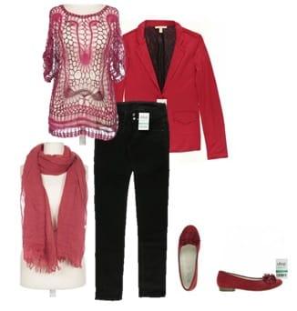 ootd_rot, pink, schwarz