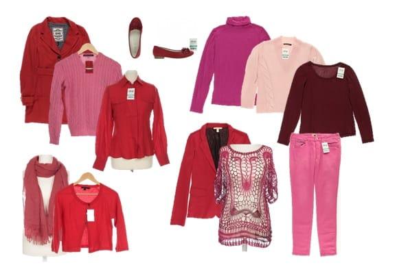 rote und pinke Mode von ubup