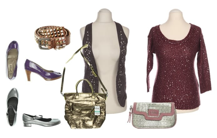 Glitzer Outfit