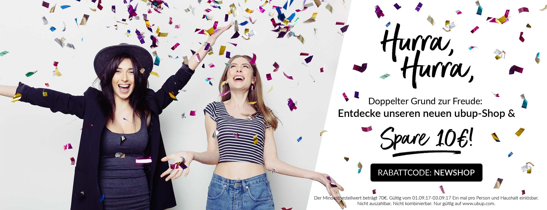 neuer ubup Shop Promotion
