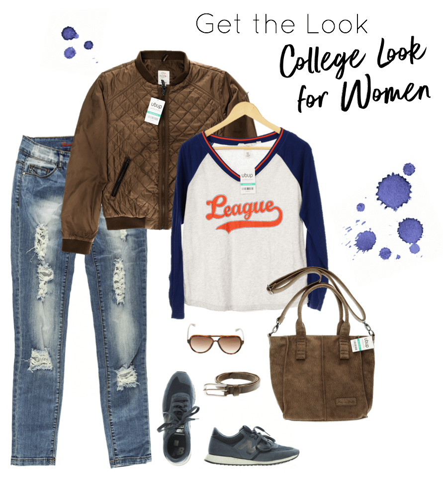 Back to School - College Look Frau