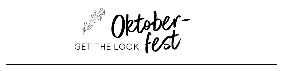 Oktoberfest-Outfit Get the Look