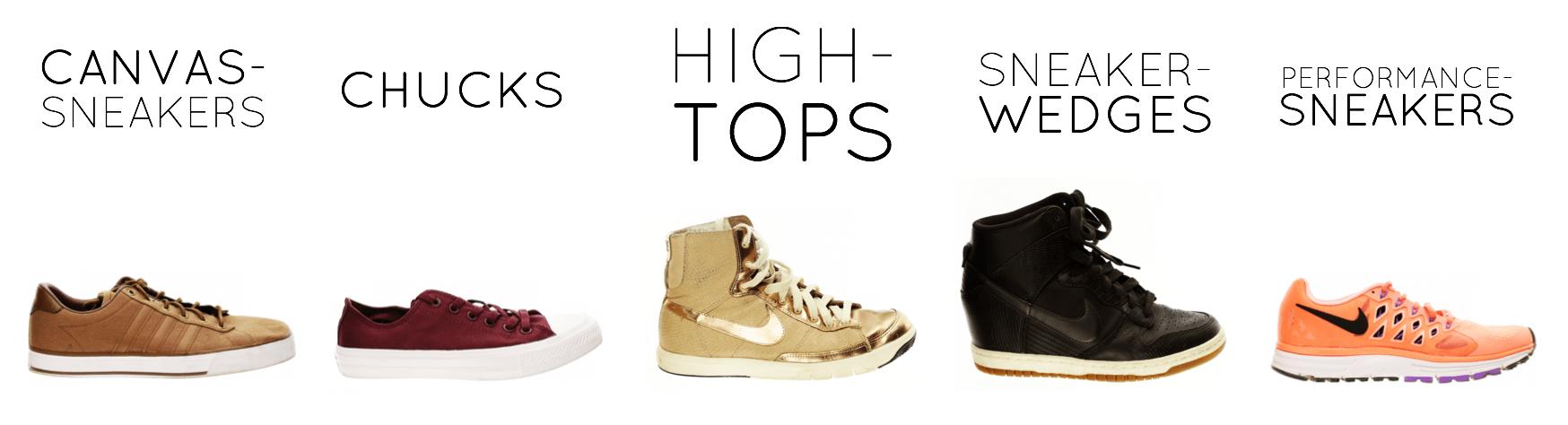 Sneakers-Arten