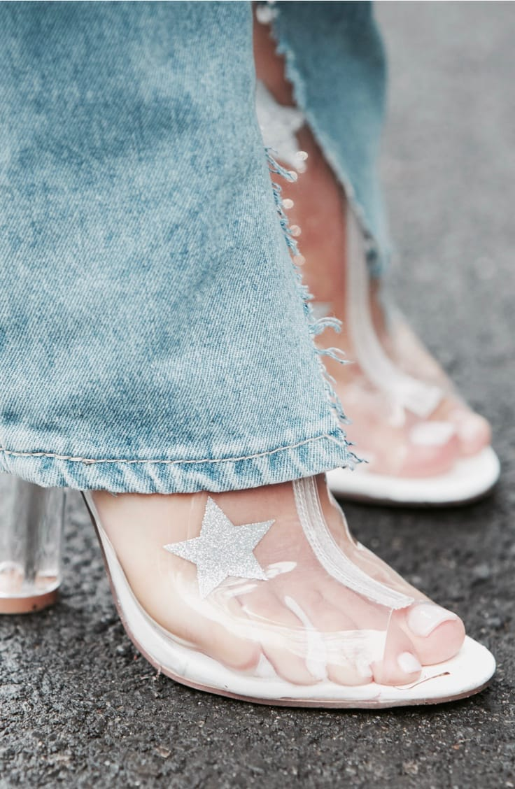 Trend Transparenz - Schuhe