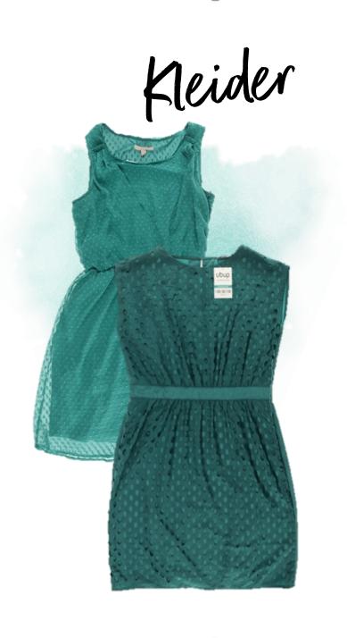 trendfarbe türkis kleider