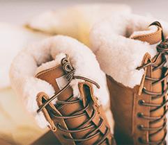 Gefütterte Schuhe für den Übergang