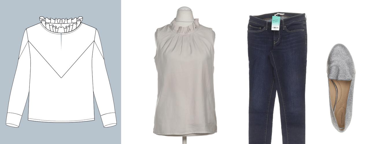 Blusen mit Stehkragen sind im Büro die perfekte Wahl.