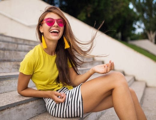 Mode in Pink, Türkis und Gelb macht glücklich