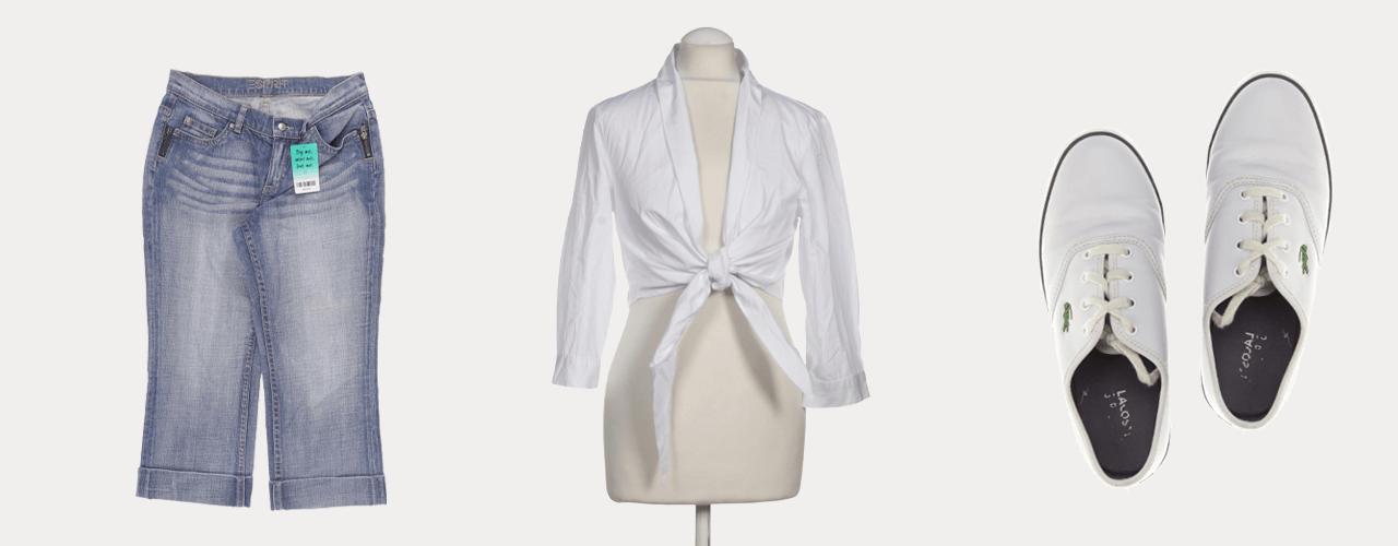 Die Bluse und die Bermudas sind da bekannteste Outfit von Baby aus Dirty Dancing!