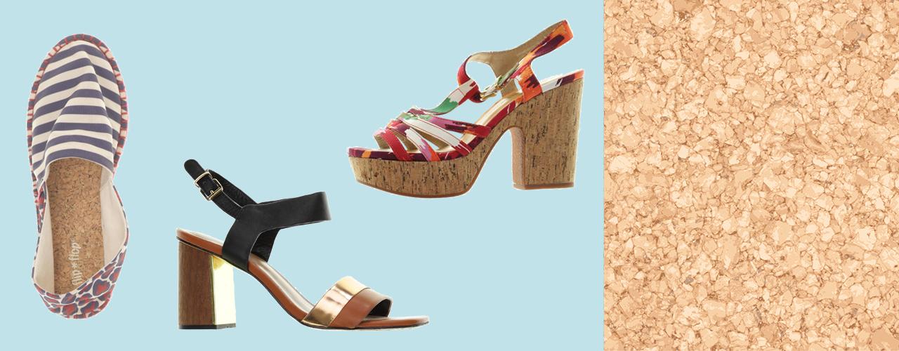 Schuhe mit Kork oder Holz sind nachhaltig und schick.