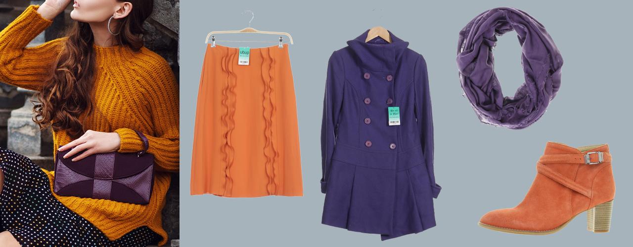 So kombinierst du Violett und Orange