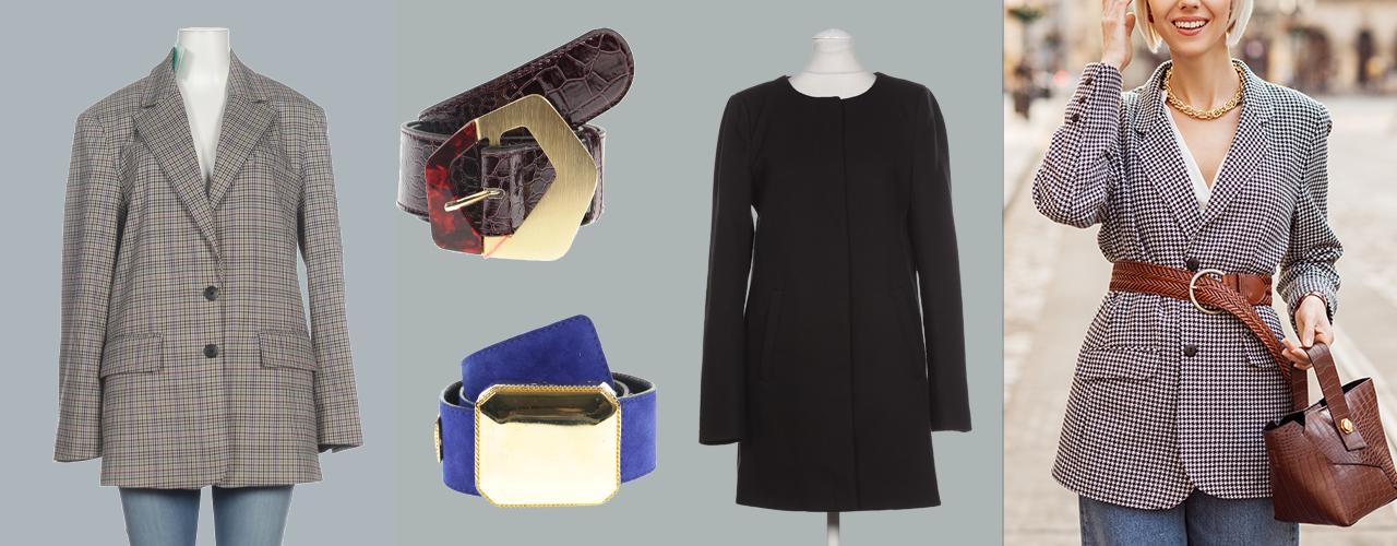 Taillengürtel können toll über Blazer oder Mantel getragen werden
