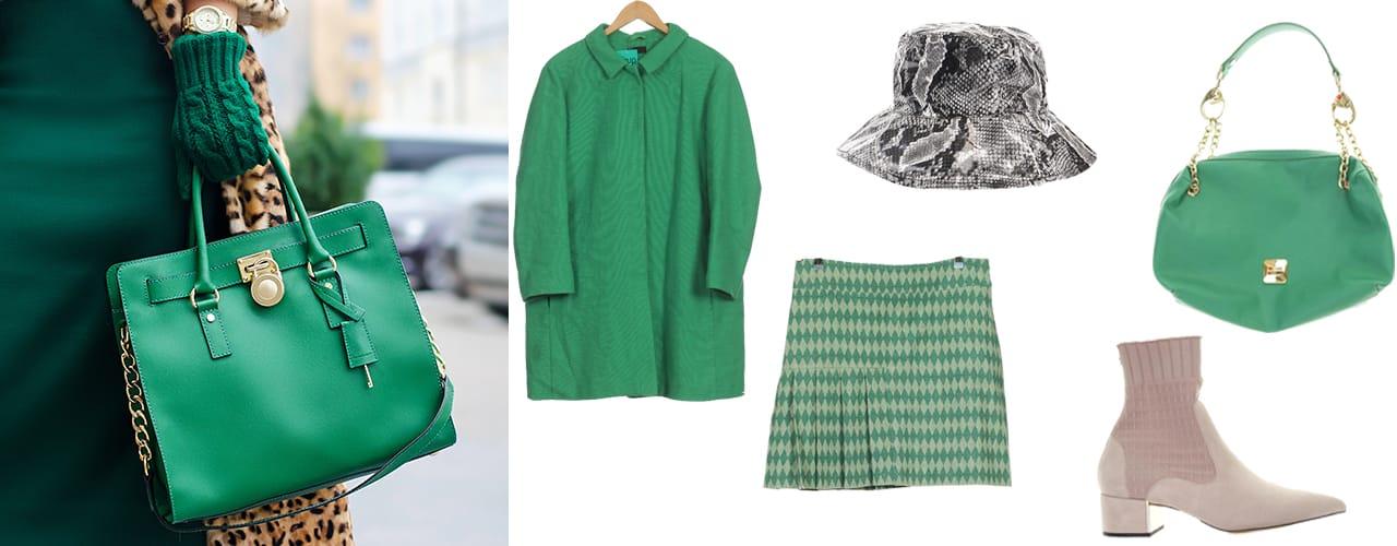 Emily zieht im grünen Outfit alle Blicke auf sich.