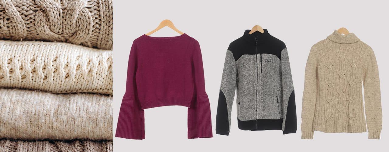 Fleck und Wollpullover für kalte Tage